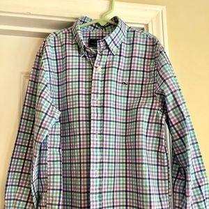 Vineyard Vines Cotton Whale Shirt S (8-10)